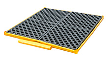 "Low-Profile Flexible Spill Deck Bladder System, 4-Drum - 51""L x 48""W x 5""H, Capacity: 6,000 lbs., 44 gal."