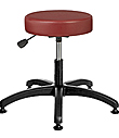 "Vinyl Upholstered Work Stool with Round Seat - 16.5"" - 21.5""H adjustable, 5-leg ABS Plastic Base"