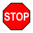 "Adhesive Floor STOP Sign - 16""x16"""