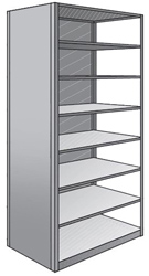 "Steel Shelving, Closed - 48"" W x 36"" D x 87"" H, 8-Shelf Adder, 350 lbs. cap."