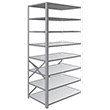 "Steel Shelving, Open - 48"" W x 18"" D x 87"" H, 8-Shelf Adder, 375 lbs. cap."