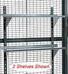 "Wire Partition Shelving - 4 shelves, 12"" x 35"""