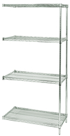 "Wire Shelving - Proform Adder, 42"" W x 24"" D x 63"" H, Four Shelves"