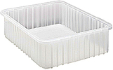"Clear View Dividable Grid Containers - 22-1/2"" x 17-1/2"" x 6"", Carton of 3"