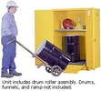 Vertical Drum Cabinet - 2 door, manual w/ drum rollers - Sure-Grip Handle, 2: 55-gal. drums