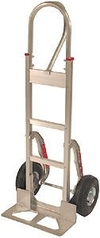 Aluminum Handtruck w/ Stairclimbers & D-Loop Handle, Semi-Pneumatic Wheels