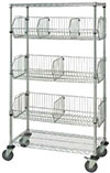 "Mobile Basket Unit, 18""W x 48""L x 69""H"