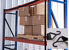 "Modular Rack Safety Net - 8 ft. Bay, 93-1/4""W x 60""H, J-hooks for Structural Rack"
