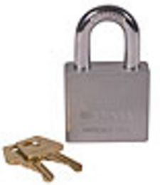 "2"" Solid Steel Chrome Padlock for Folding Gate"