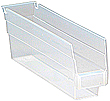 "Clear View Economy Shelf Bins - 11-5/8"" x 2-3/4"" x 4"", Carton of 36"