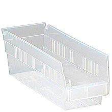 "Clear View Economy Shelf Bins - 11-5/8"" x 4-1/8"" x 4"", Carton of 36"