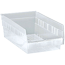 "Clear View 4"" Economy 11-5/8"" x 6-5/8"" x 4"" Shelf Bins - Qty: 30"