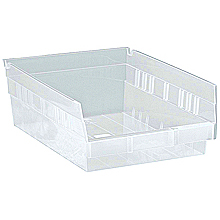 "Clear View Economy Shelf Bins - 11-5/8"" x 8-3/8"" x 4"", Carton of 20"