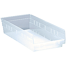 "Clear View 4"" Economy 17-7/8"" x 8-3/8"" x 4"" Shelf Bins - Qty: 10"