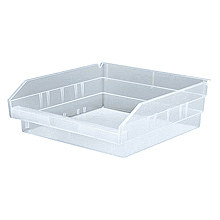 "Clear View 4"" Economy 11-5/8"" x 11-1/8"" x 4"" Shelf Bins - Qty: 8"