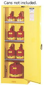 Slimline Safety Cabinet, 65 x 23.25 x 18 - 1 door, manual w/ Sure-Grip Handle