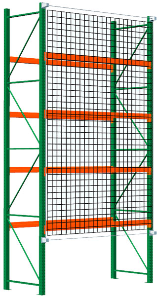 pallet rack with safety net