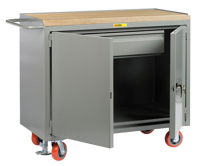 Cisco Eagle Catalog Mobile Workbench Cabinet 24 X 48 1 Heavy Duty Drawer Butcher Block Top Cabinet Doors