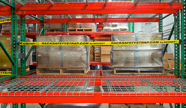 view of Pallet Rack Safety Straps