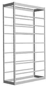 "Low Profile Rivet Shelving, 36""w x 12""d x 84""h, 350Lbs. Cap., 9 Shelves - Starter"