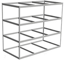 "Long Span Shelving, 96"" x 30"" x 84"" No Decking, 500 Lbs. Cap., Starter"