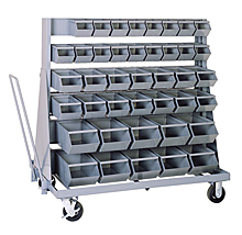 Mobile Rack w/ 84 Stacking Bins (36 #0, 28 #1, 20 #2 Stacking Bins)