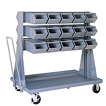 "Mobile Rack w/ 30 Stacking Bins (15-1/2""L x 7-1/2""W x 6""H)"