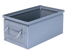 "Steel Stackbox # 2, 13"" x 7-1/2"" x 6"" with handle"