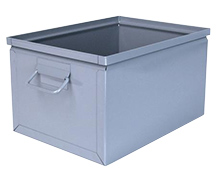 "Steel Stackbox # 4, 16-1/2"" x 12"" x 9-1/2"" with handle"