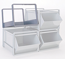 "800 Series Stacking Rack for 24"" x 15"" x 10"" Bins & Boxes"