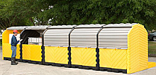 Modular IBC Spill Pallet - 5-Tank, Outdoor Model