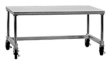 "Mobile Aluminum Equipment Stand - 30""D x 24""H x 48""L"