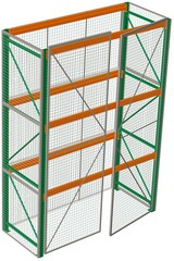 Rack with Security Cages