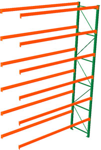 Pallet Rack Adder - 216h x 42d x 144w, 6 Beam Levels - 8020 Cap. Beams