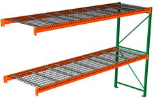 "Pallet Rack with Wire Decking - Adder with 2 Beam Levels - 144""w x 36""d x 120""h"