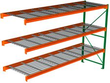 "Pallet Rack with Wire Decking - Adder with 3 Beam Levels - 144""w x 36""d x 120""h"