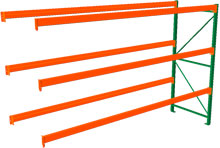 Pallet Rack Adder - 120h x 42d x 144w, 3 Beam Levels - 8020 Cap. Beams