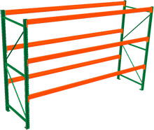 Pallet Rack Starter - 120h x 42d x 144w, 3 Beam Levels - 8020 Cap. Beams