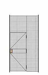 "1-Wall Welded Wire Partition - 5'W x 10'5-1/4""H - 3' Hinged Gate"