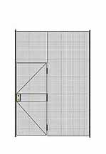 "1-Wall Welded Wire Partition - 7'W x 10'5-1/4""H - 3' Hinged Gate"