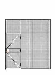 "1-Wall Welded Wire Partition - 9'W x 10'5-1/4""H - 3' Hinged Gate"