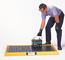 Spill Containment Tray - With Grate, Yellow