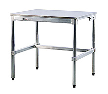 "Stainless Steel Topped Table - 24""D x 34""H x 60""L"