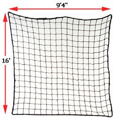 "Rack Safety Net, 9'4"" x 16', 2,500 lbs. Cap. 2"" x 2"" Nylon Mesh"