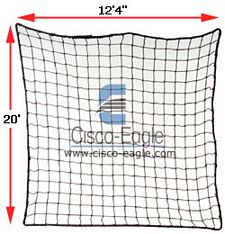 "Rack Safety Net, 12'4"" x 20', 2,500 lbs. Cap. 2"" x 2"" Nylon Mesh"