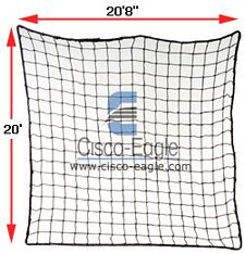 "Rack Safety Net, 20'8"" x 20', 2,500 lbs. Cap. 2"" x 2"" Nylon Mesh"