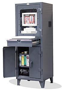 Computer Workstation Lockable Computer Cabinet