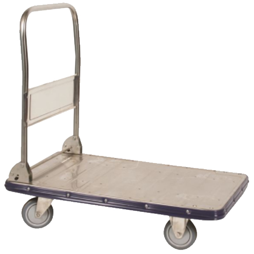 "Stainless Steel Platform Truck - 22.5"" x 34"" - Foldable Handle"