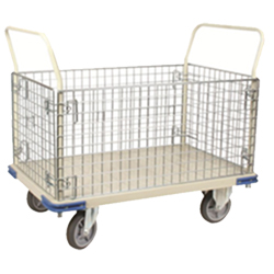 "4 Sided Wire Panel Truck with Removable Sides- 30"" x 48"" - 1,100 lb. Cap."
