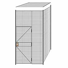 "2-Wall Welded Wire Partition w/ Ceiling - 5'4"" x 5'4"" x 10'5-1/4""H"